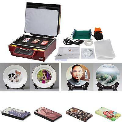 Multifunction red 3D vacuum heat press sublimation machine 220V foam packaging