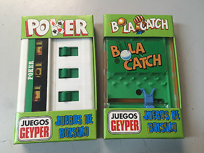 2 X Juego A Cuerda De Geyper Poker Y Bolacatch Sin Usar New Old Stock