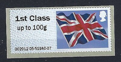 GB Royal Mail Post and Go Stamp. Union Jack Flag. 1st Class. MNH