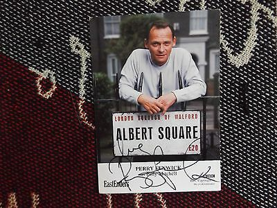 """HAND SIGNED 6"""" x 4"""" PHOTO CARD - EASTENDERS - PERRY FENWICK - BILLY MITCHELL"""