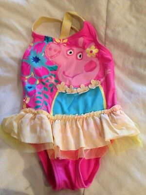 Baby Girl 12-18 Months Peppa Pig Swimming Costume