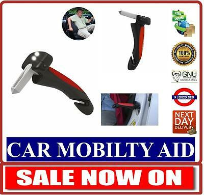 Cane Car Aid Mobility Standing Support Portable Grab Bar with Flash Light.