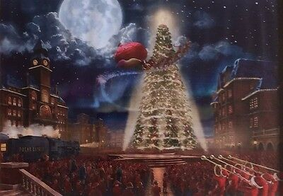 "Christmas Themed Print On Canvas  - The Polar Express - 11"" x 13"" - Brand New"