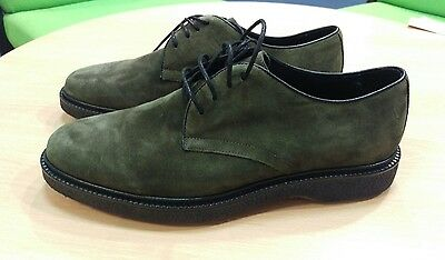 mens shoes derby shoe in khaki suede size 8