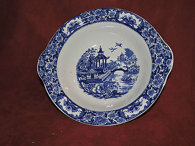 Blue and White Twin - Handled Serving Bowl.