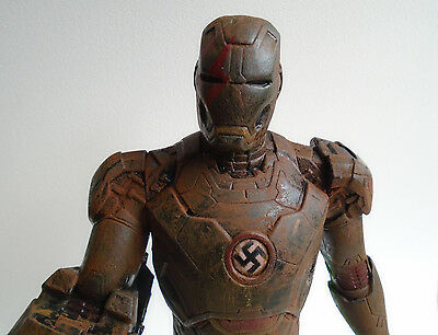 Unique Collectable German WW2 Rusty Iron Man Custom action figure a very Hot Toy