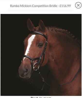 Pony Size Rambo Micklem Competition Bridle Black