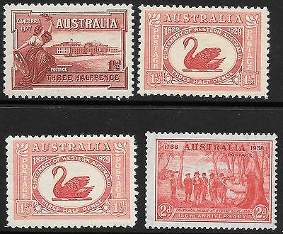 Pre-Decimal    4 Early Stamps   Mint Hinged