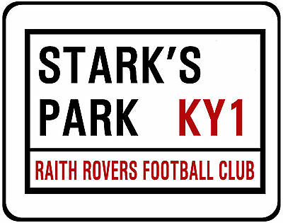 Raith Rovers F.c. Street Sign On Mouse Mat / Pad. Stark's Park