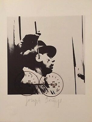 Joseph Beuys Hand signed Numbered Art Work 1976 Fluxus Lithograph VGC