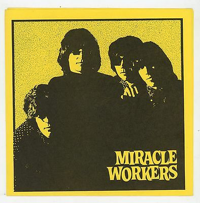 """Classic Garage USA : The MIRACLE WORKERS : MOXIE EP - 7"""" EP USA 1984 - 2nd press"""