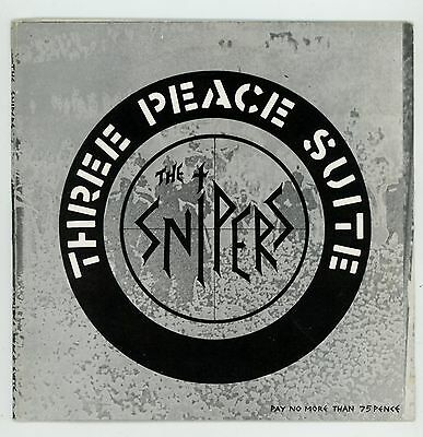 """Punk UK : The SNIPERS : Three Peace Suite EP - 7"""" UK 1981 - CRASS records !"""