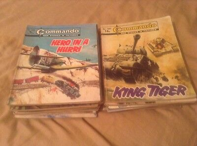 20 commando comics in the 1000s