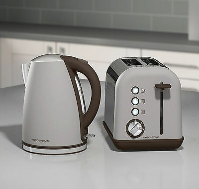 Morphy Richards New Accents Pebble Grey Jug Kettle & 2 Slice Toaster