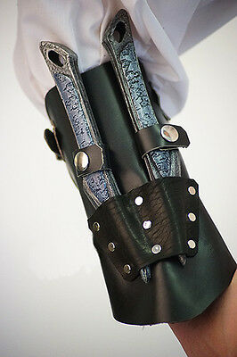 Re enactment-LARP-SCA-Cosplay ASSASSIN'S CREED STYLE BLACK VANBRACE / ARM GUARD