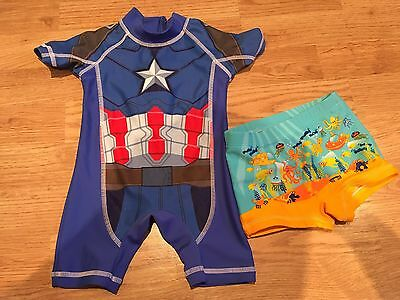 Swimsuit and Trunks 6-9 Months
