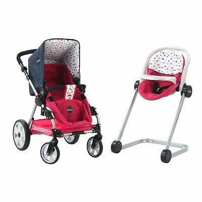 I'Coo Grow With Me Doll Playset Stroller Pram and highchair combo