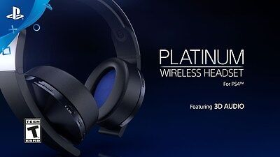 NEW PS4 SONY 3D Surround Platinum Wireless Headset Headphone 2017 (US)