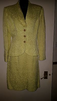 Stunning Frank Usher Skirt Suit. Canary Yellow. Size 14
