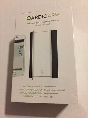 Qardio Arm Wireless Blood Pressure Monitor for iPhone iOS & Android -White New