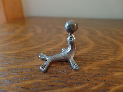 Miniature Pewter Seal with Ball - Free Shipping