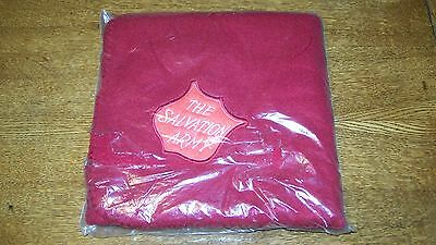 Salvation Army Red Blanket New With Embroidered Patch