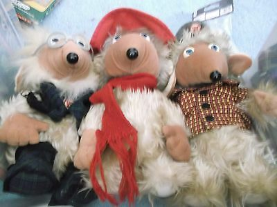 "Wombles Set three 3  Soft Toy 10"" First Love Elisabeth Beresford 1998"