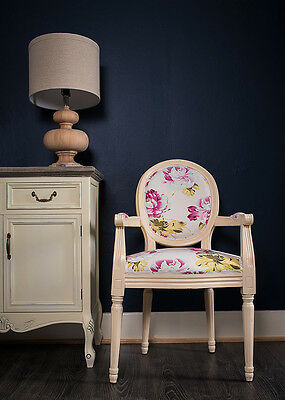 French Louis Armchair White Red Floral Shabby Chic Antique Bedroom Cream Chair