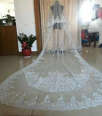 Brides wedding veil – cathedral length (New)