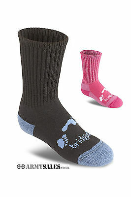 Bridgedale TREKKER JUNIOR L UK 1-3 Children's Boot Hiking Socks BLACK or PINK