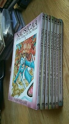 Nausicaa Of The Valley Of The Wind - Full Set Of Graphics 1-7 Viz Manga Comic
