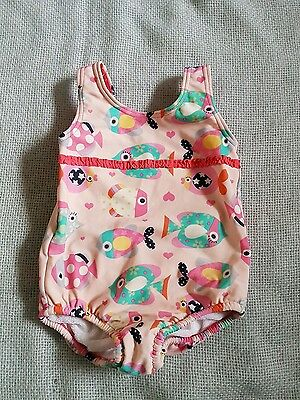 M&S girls swimming costume age 12-18 months. pink with fish