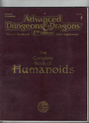 AD&D 2e The Complete Book of HUMANOIDS PHBR10 Price Includes delivery in the UK