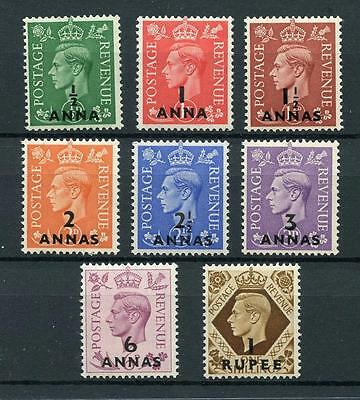 Brit PO in Eastern  Arabia Muscat 1948 short set to 1r SG16/23 MNH