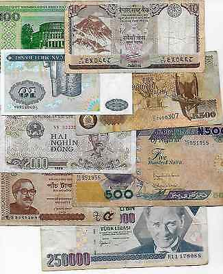 World Banknotes x 57 All Different