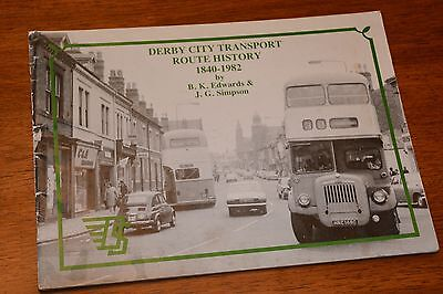 1983 Derby City Bus Route History 1840-1982 Ref X 23