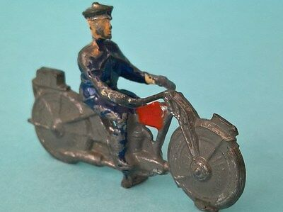 Vintage Pre-War - Lead Toy Police Motorcycle - Possibly Charben