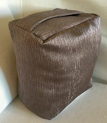 Luxury Charcoal Minky Grey Soft Shimmering Fabric Door Stop ..unfilled