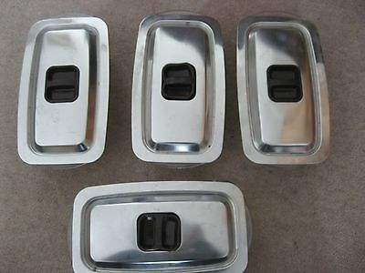 Hostess Glass dish Trolley Dishes & Stainless Steel Lids