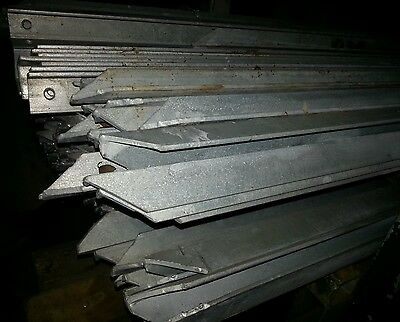 2.5m galvanised angle iron posts 40mm x 40mm x5mm  fencing fruit wire etc
