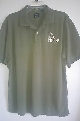 Bsa Troop Golf Polo Shirt Silkwashed Cotton Size Large Boy Scouts Of America