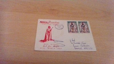 1964 Jamaica  Miss World  First Day  Cover