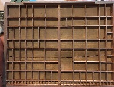 Antique Printer's Type case Or Type Drawer Unusual 2/3 Size VERY OLD
