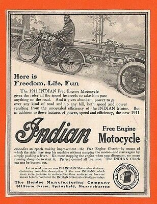 Antique Indian Motorcycle ad lot of 7 vintage 1910's 1911 1913 1915 motocycle