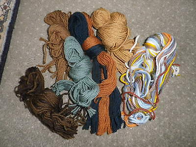 Mixed Lot Wool Hanks for Tapestry or Rug Making 100gms (2)