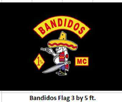Bandidos Motorcycle Club Flag - Reduced