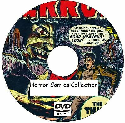 Horror Comics Collection Over 700 comics on 3 DVDs Mystery Haunted