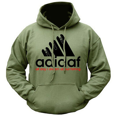 NEW ADIDAF CARP pike trout FLY FISHING HOODIE 340GSM TACKLE BIVI CLOTHING REEL