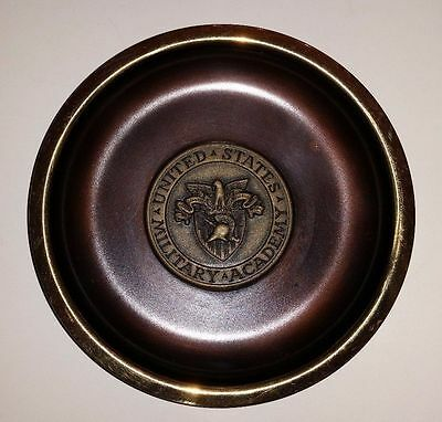 United States Military Academy Usma West Point Plaque Bronze Original 5""