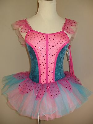 NWT Girl's Ballet Dance Pageant Tutu Costume Dress Child Large 12